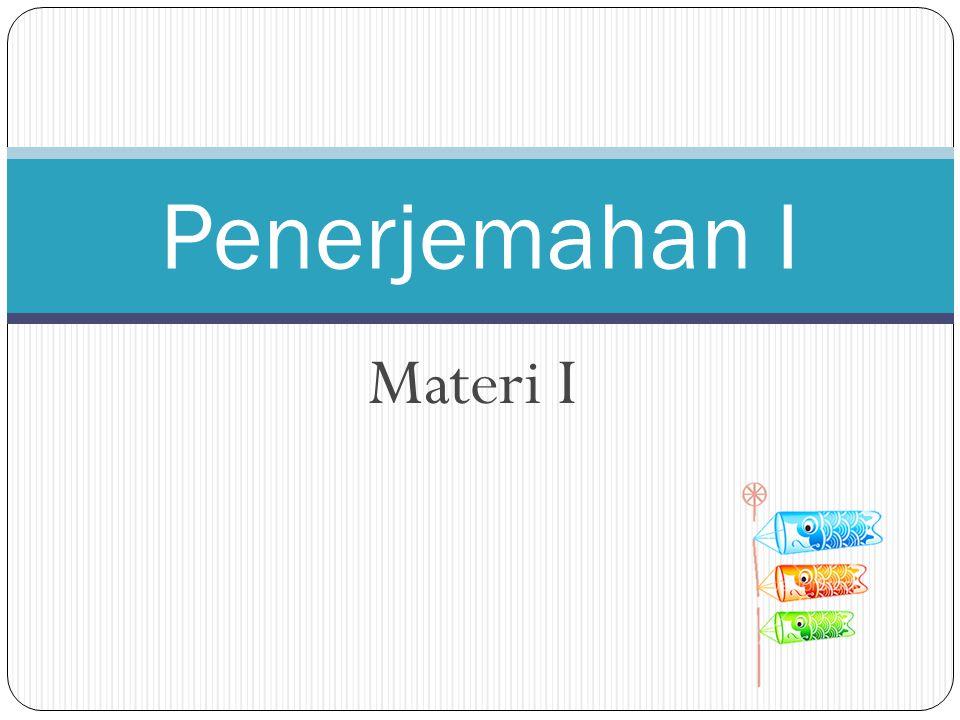 Penerjemahan I Materi I