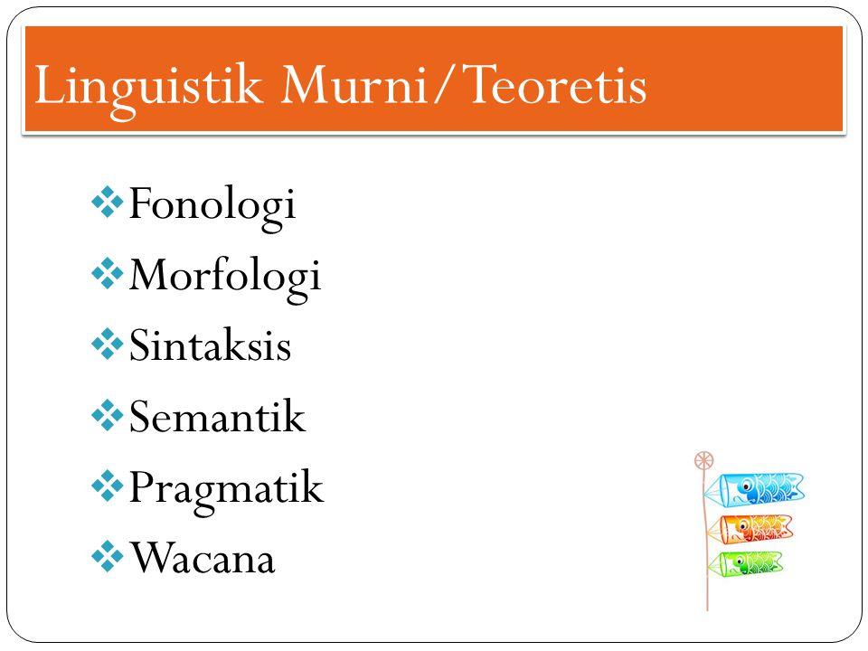 Linguistik Murni/Teoretis