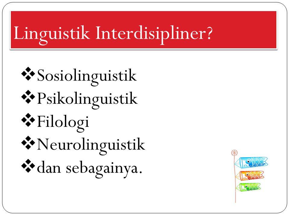 Linguistik Interdisipliner