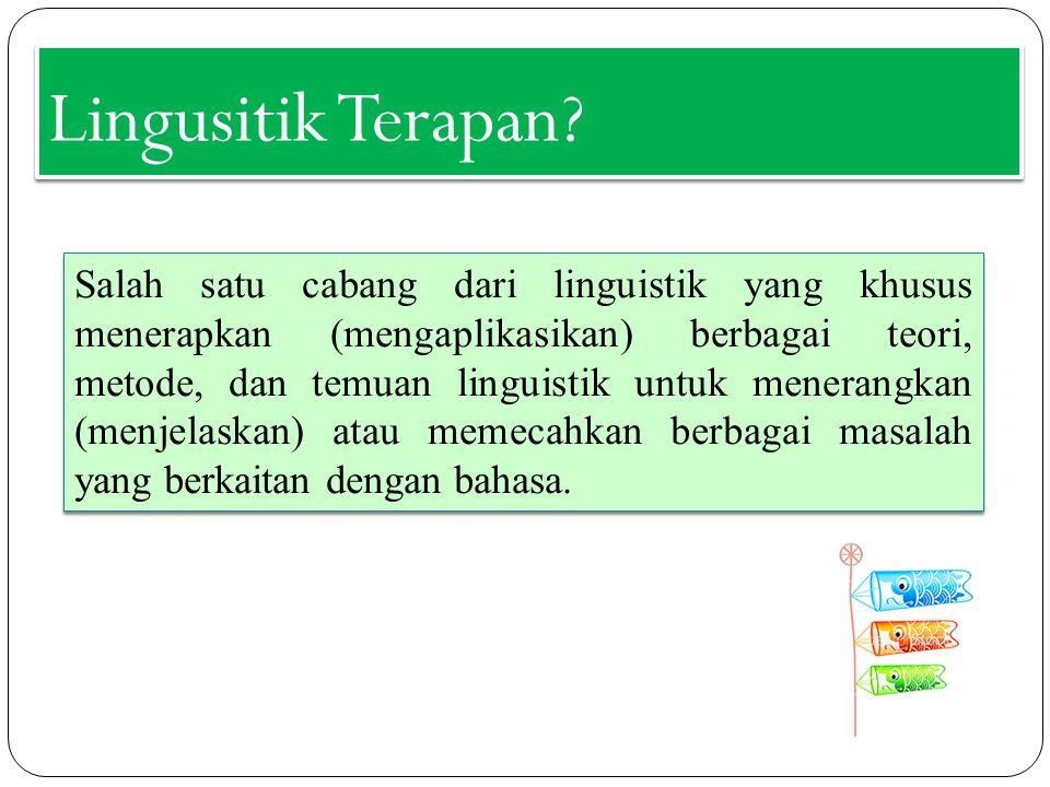 Lingusitik Terapan