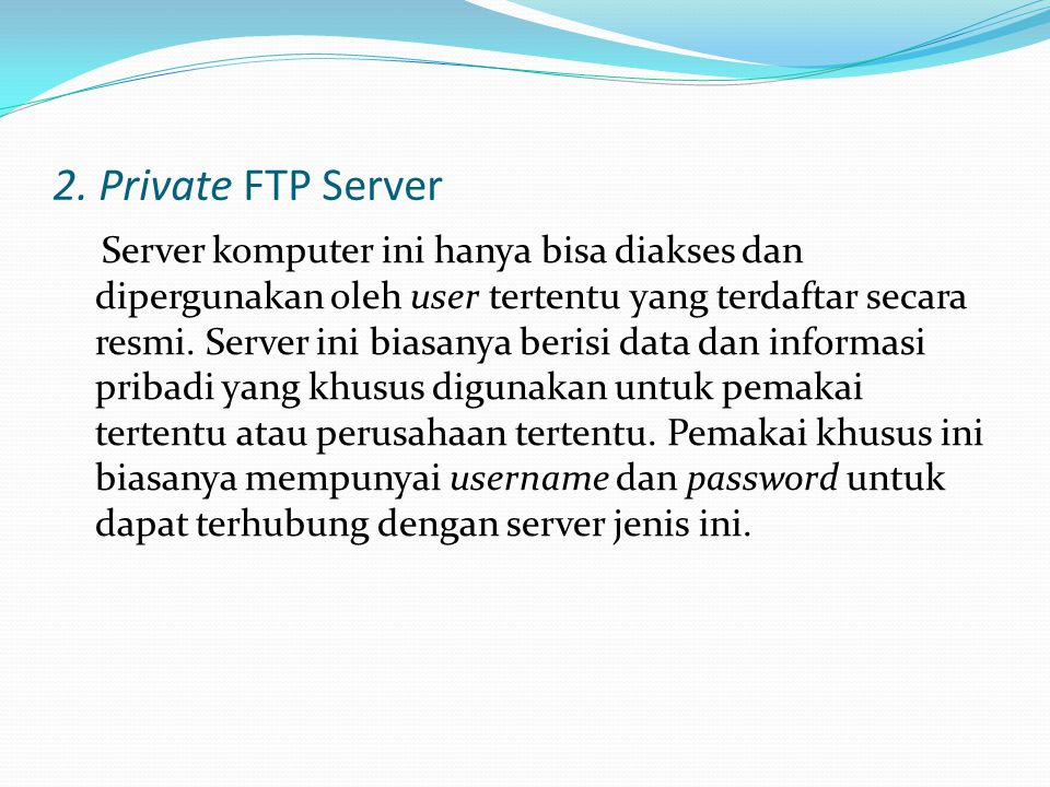 2. Private FTP Server