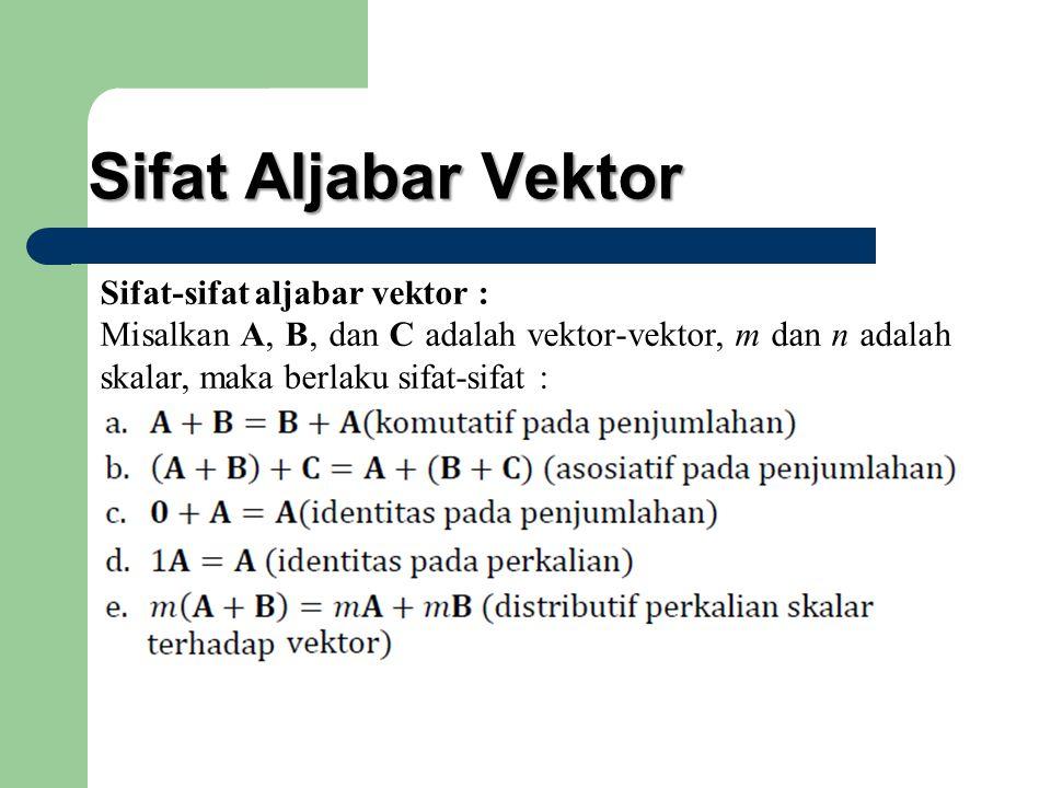 Sifat Aljabar Vektor Sifat-sifat aljabar vektor :