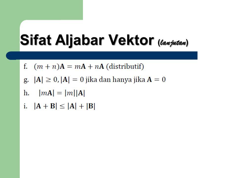 Sifat Aljabar Vektor (lanjutan)