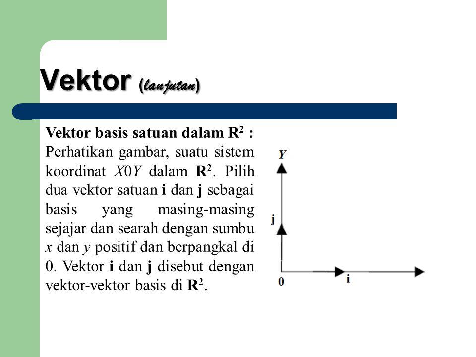 Vektor (lanjutan) Vektor basis satuan dalam R2 :