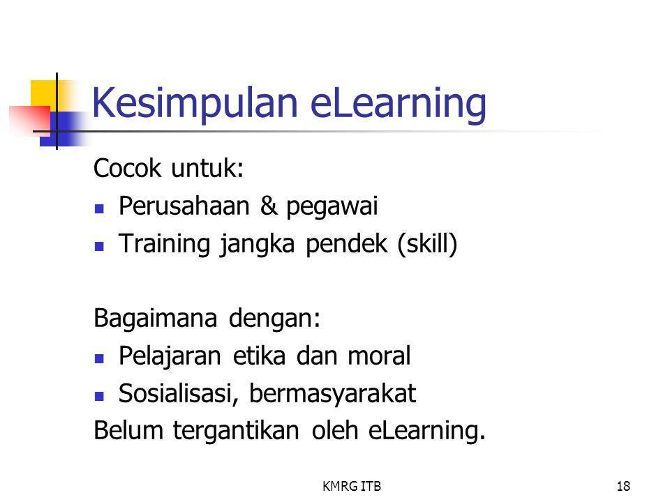 Kesimpulan eLearning Cocok untuk: Perusahaan & pegawai
