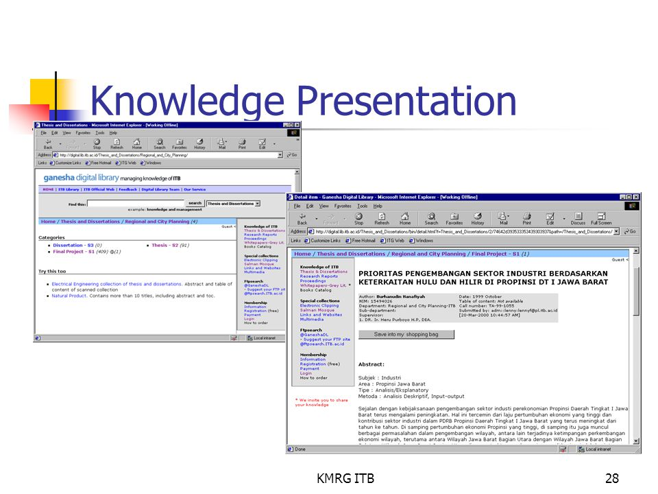 Knowledge Presentation