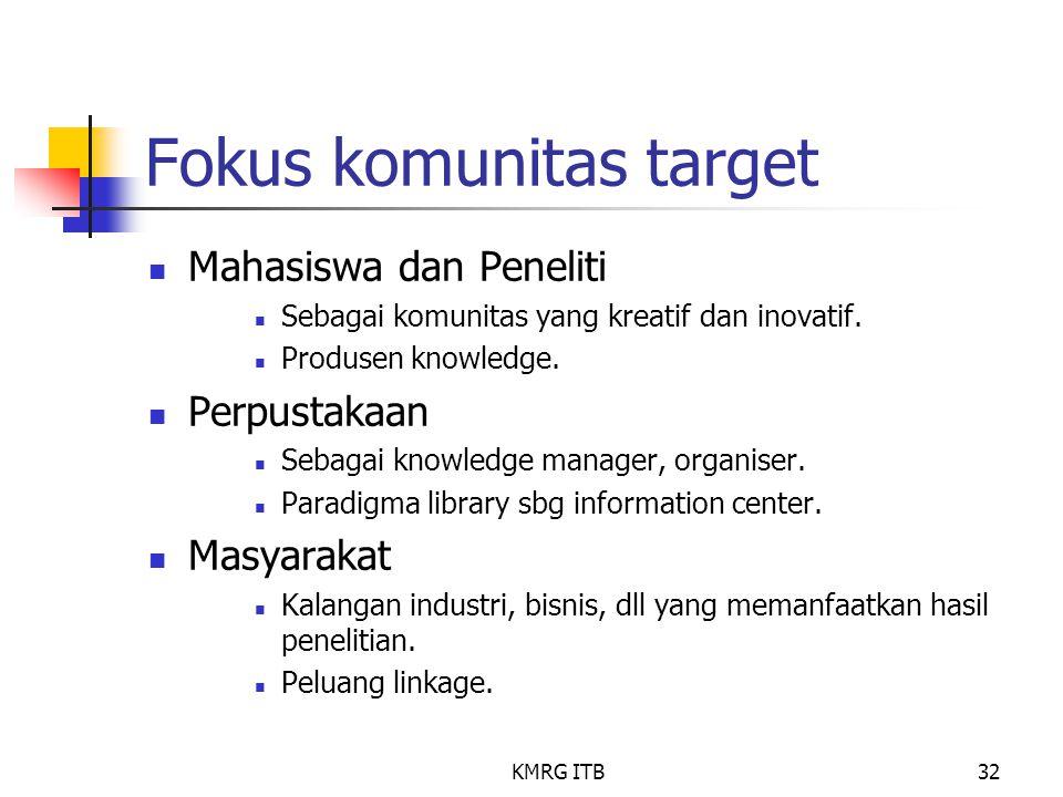 Fokus komunitas target