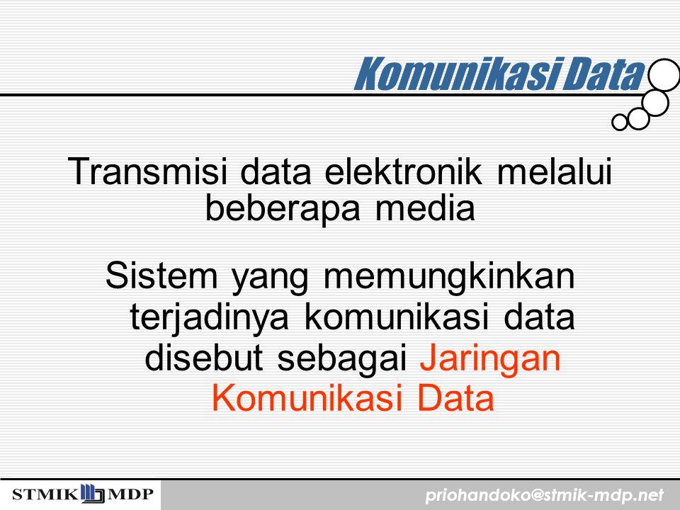 Transmisi data elektronik melalui beberapa media