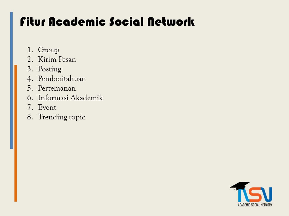 Fitur Academic Social Network