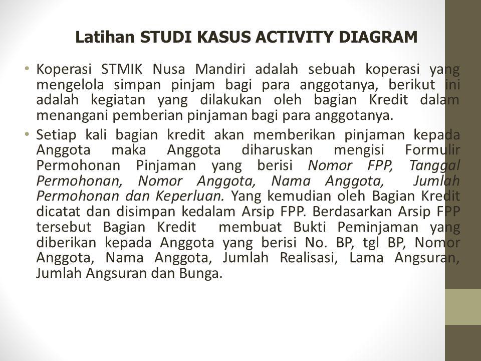 Latihan STUDI KASUS ACTIVITY DIAGRAM