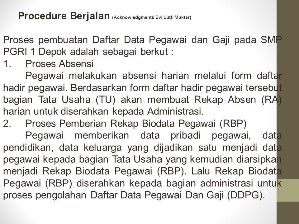 Procedure Berjalan (Acknowledgments Evi Lutfi Muktar)