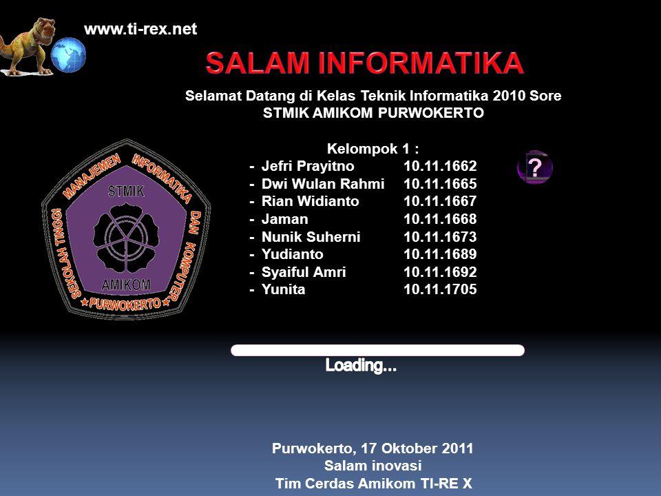 SALAM INFORMATIKA www.ti-rex.net Loading...