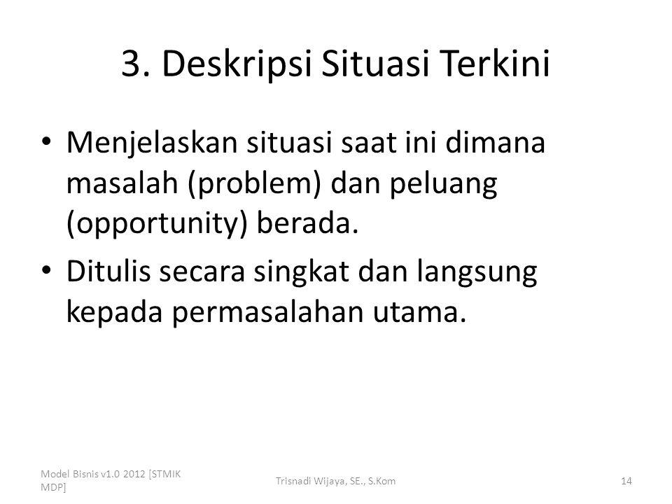 3. Deskripsi Situasi Terkini
