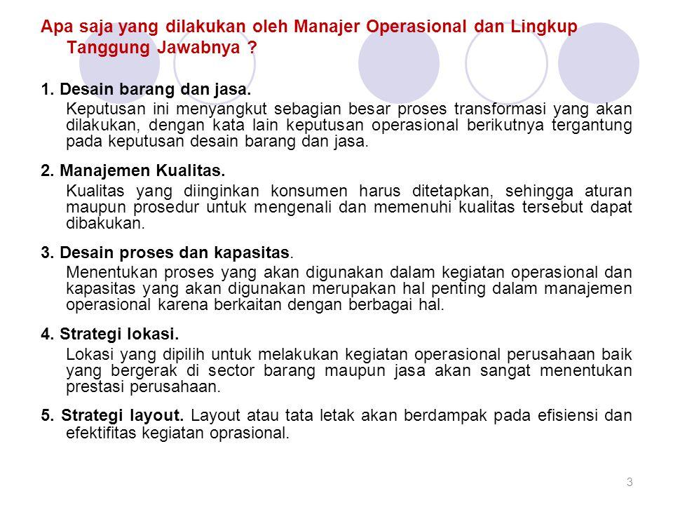 Apa saja yang dilakukan oleh Manajer Operasional dan Lingkup Tanggung Jawabnya