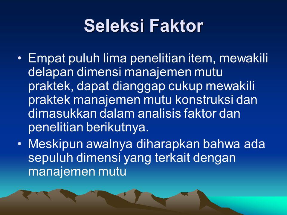 Seleksi Faktor