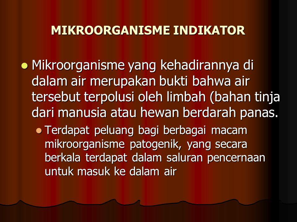MIKROORGANISME INDIKATOR