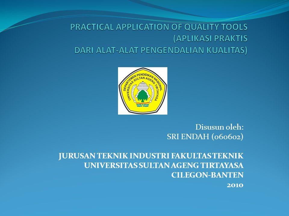 PRACTICAL APPLICATION OF QUALITY TOOLS (APLIKASI PRAKTIS DARI ALAT-ALAT PENGENDALIAN KUALITAS)