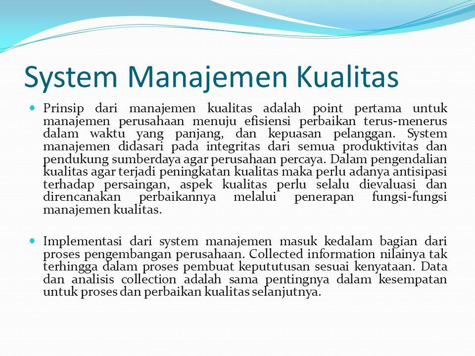 System Manajemen Kualitas