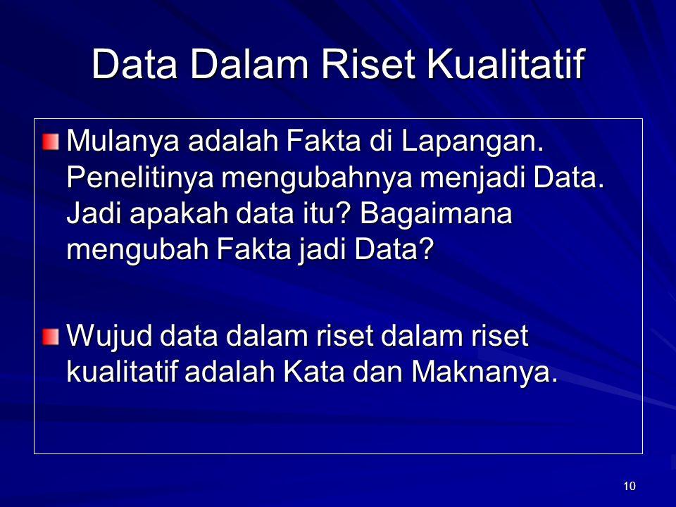 Data Dalam Riset Kualitatif