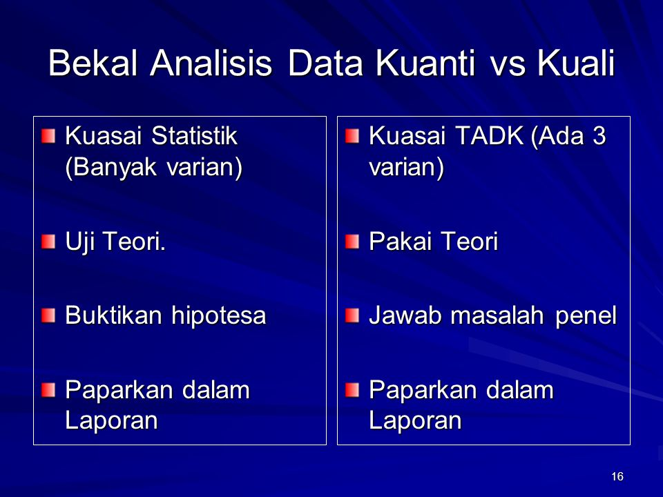 Bekal Analisis Data Kuanti vs Kuali
