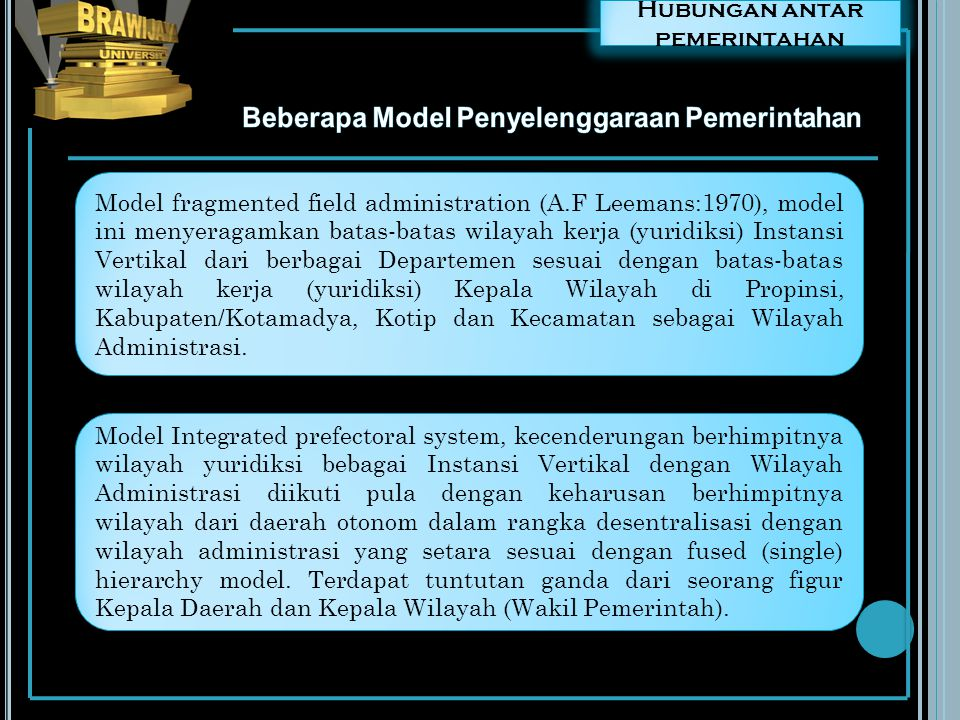 Beberapa Model Penyelenggaraan Pemerintahan