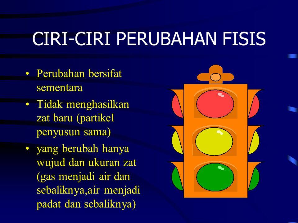 CIRI-CIRI PERUBAHAN FISIS