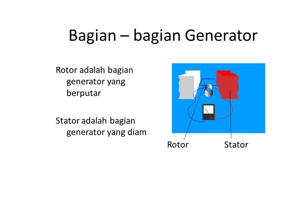 Bagian – bagian Generator