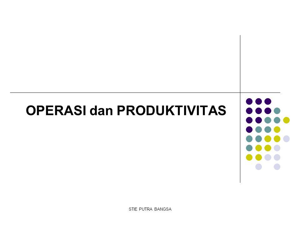 OPERASI dan PRODUKTIVITAS