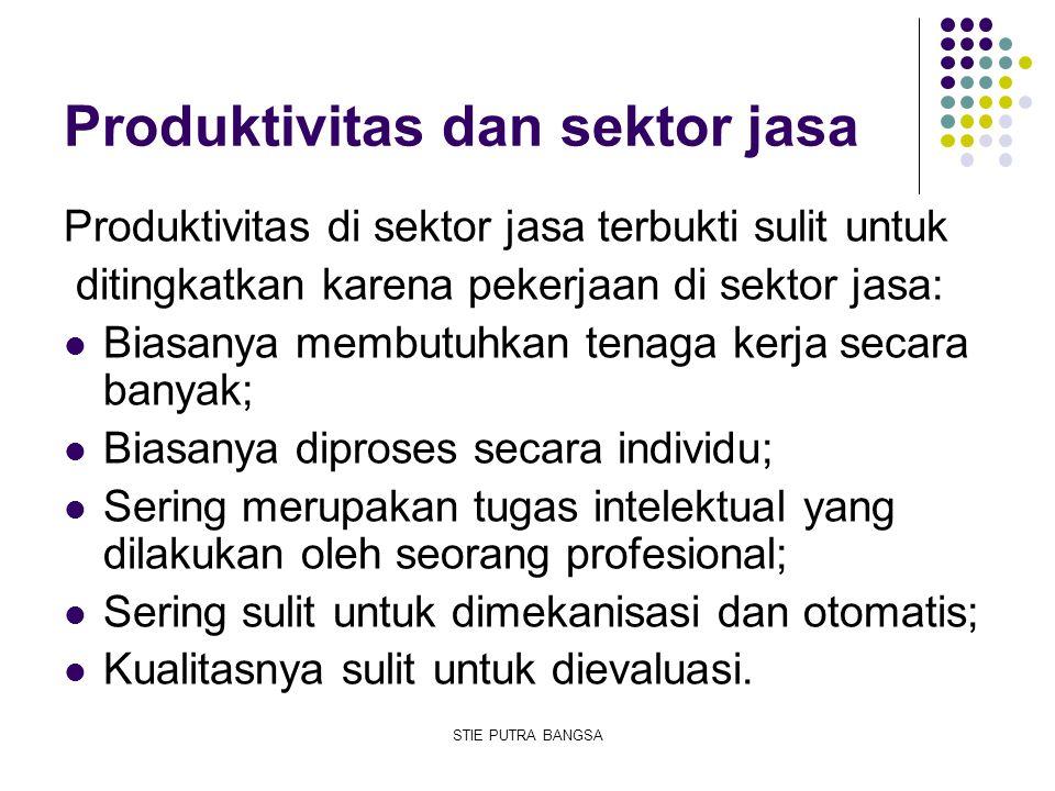 Produktivitas dan sektor jasa