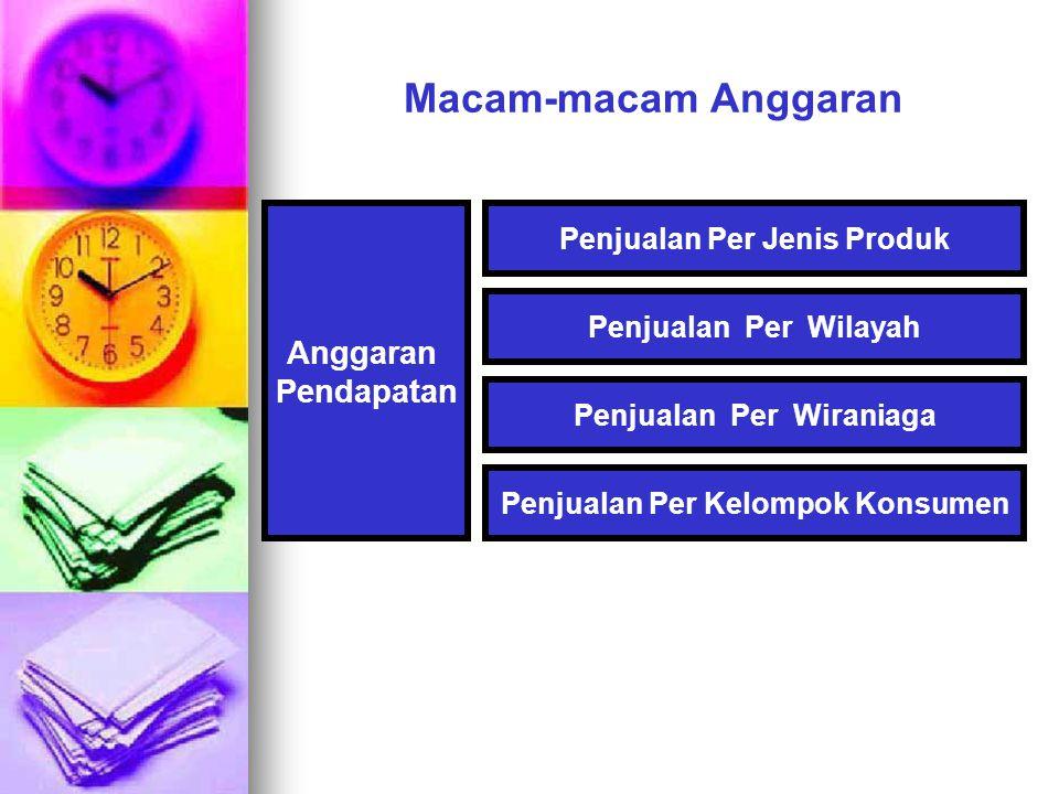 Macam-macam Anggaran Anggaran Pendapatan Penjualan Per Jenis Produk