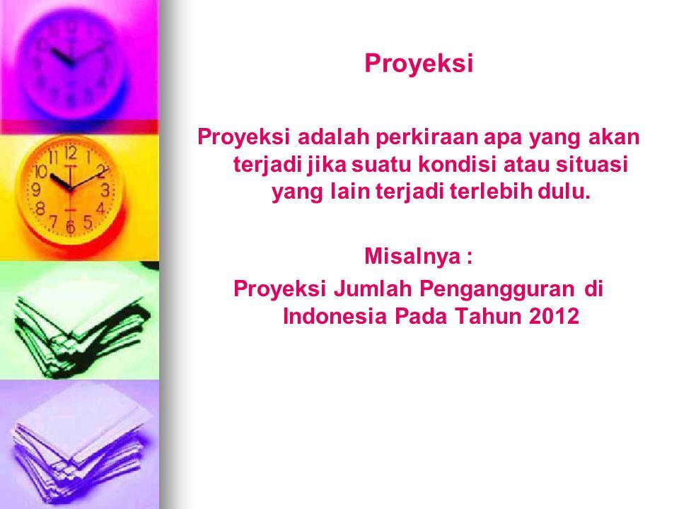 Proyeksi Jumlah Pengangguran di Indonesia Pada Tahun 2012