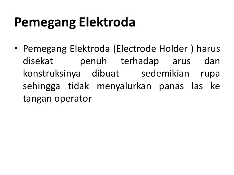 Pemegang Elektroda