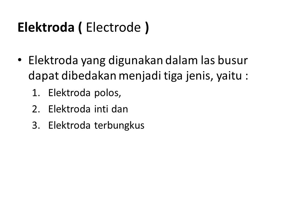 Elektroda ( Electrode )