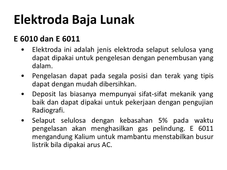 Elektroda Baja Lunak E 6010 dan E 6011