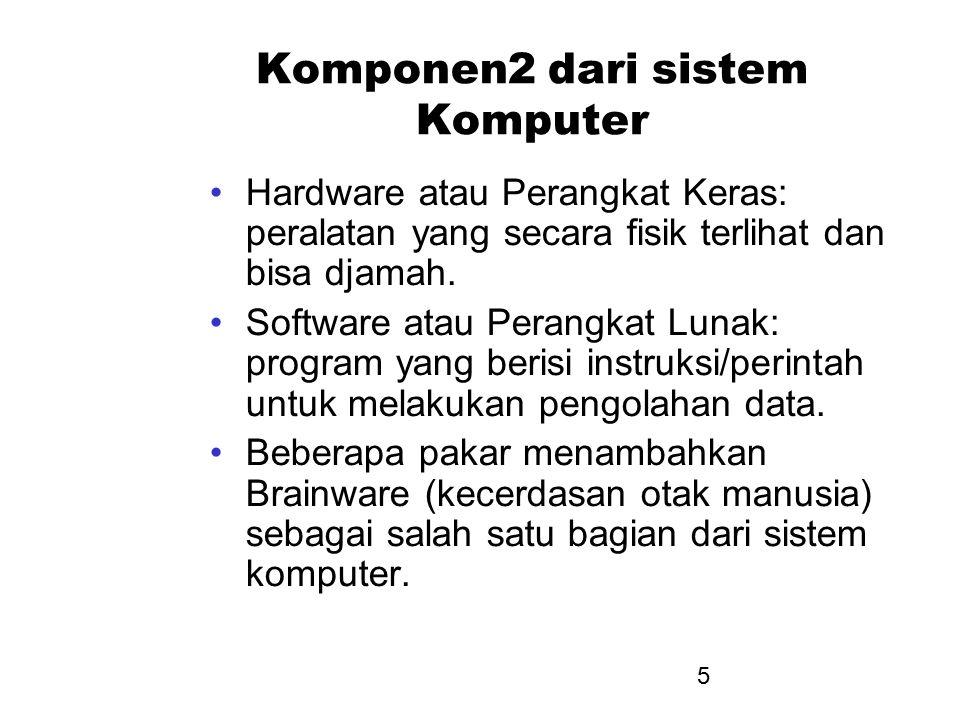 Komponen2 dari sistem Komputer