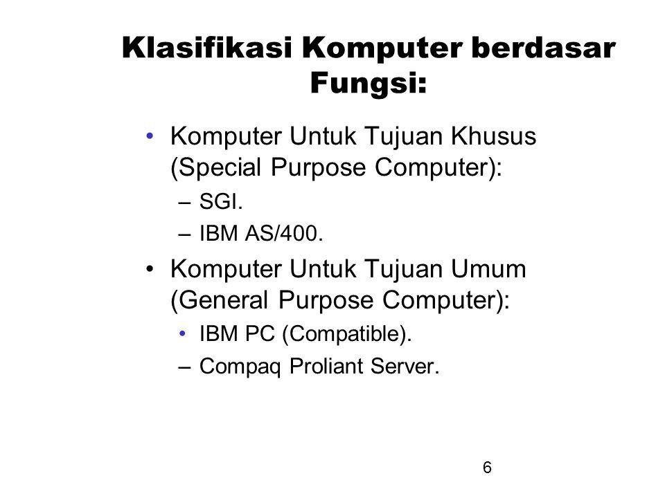 Klasifikasi Komputer berdasar Fungsi: