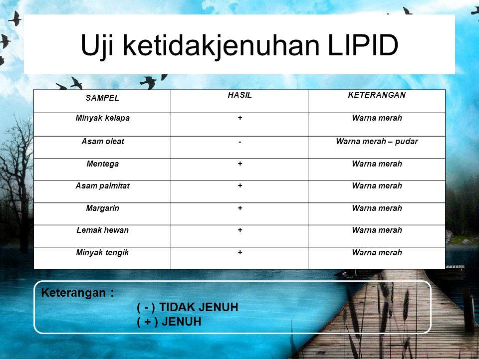Uji ketidakjenuhan LIPID