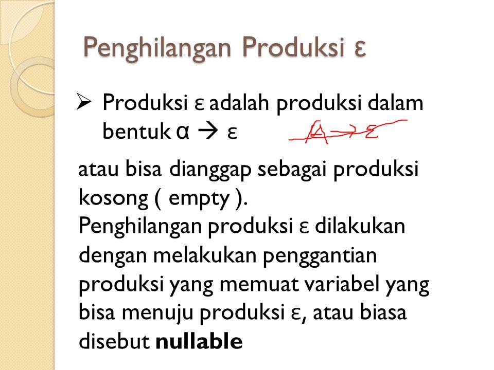 Penghilangan Produksi ε