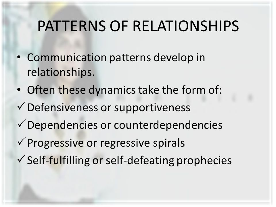 PATTERNS OF RELATIONSHIPS