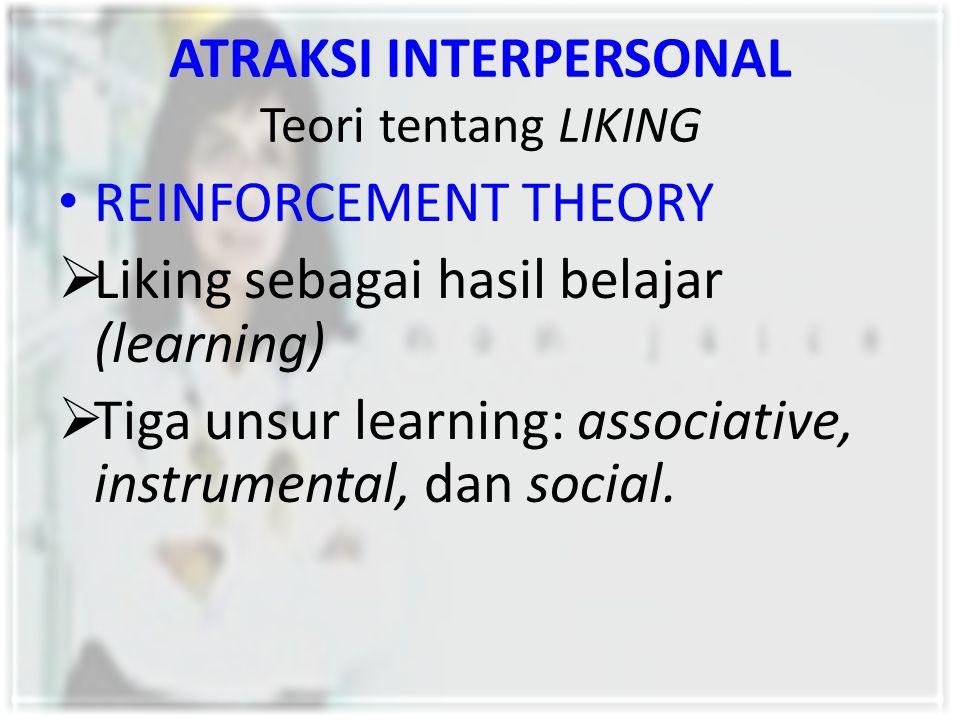 ATRAKSI INTERPERSONAL Teori tentang LIKING