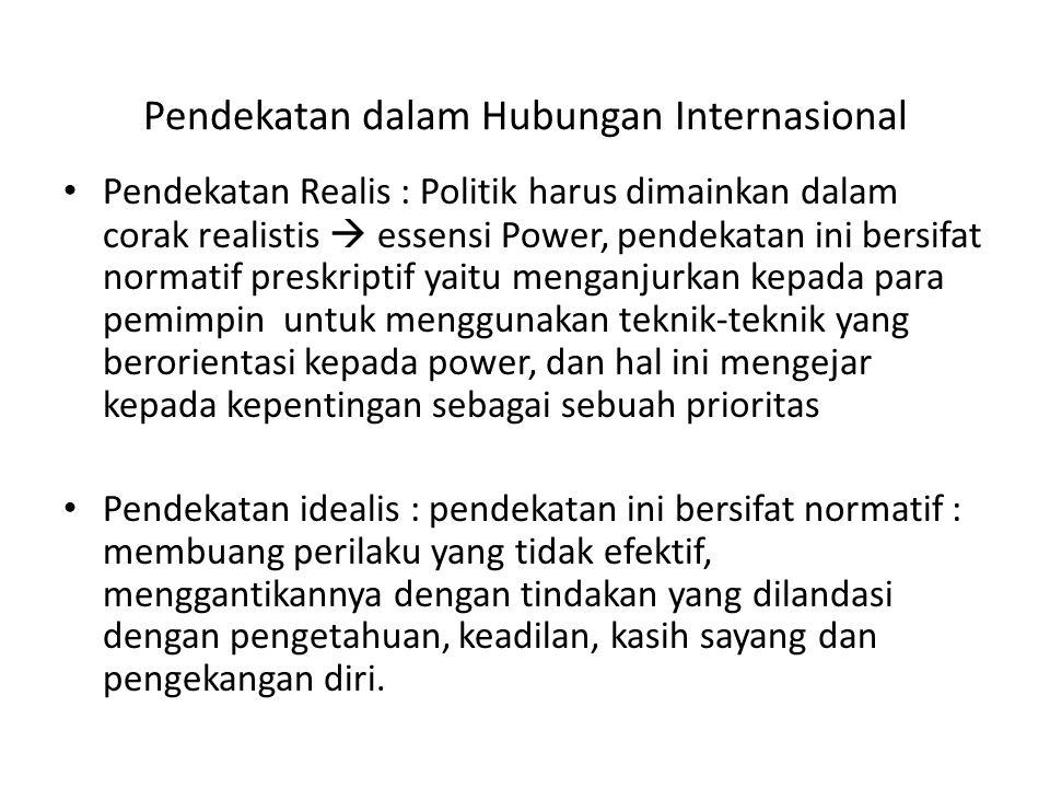 Pendekatan dalam Hubungan Internasional