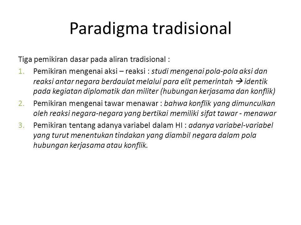 Paradigma tradisional