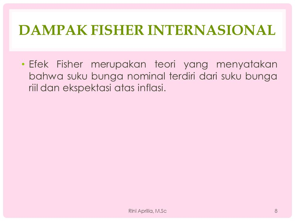 Dampak Fisher Internasional