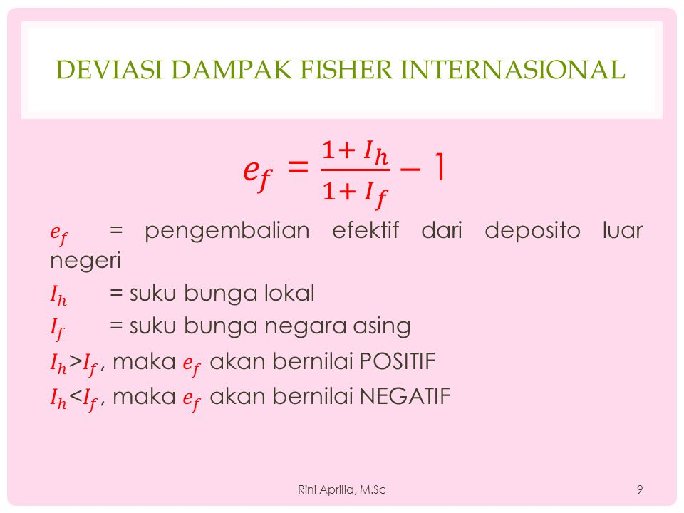 Deviasi dampak fisher internasional