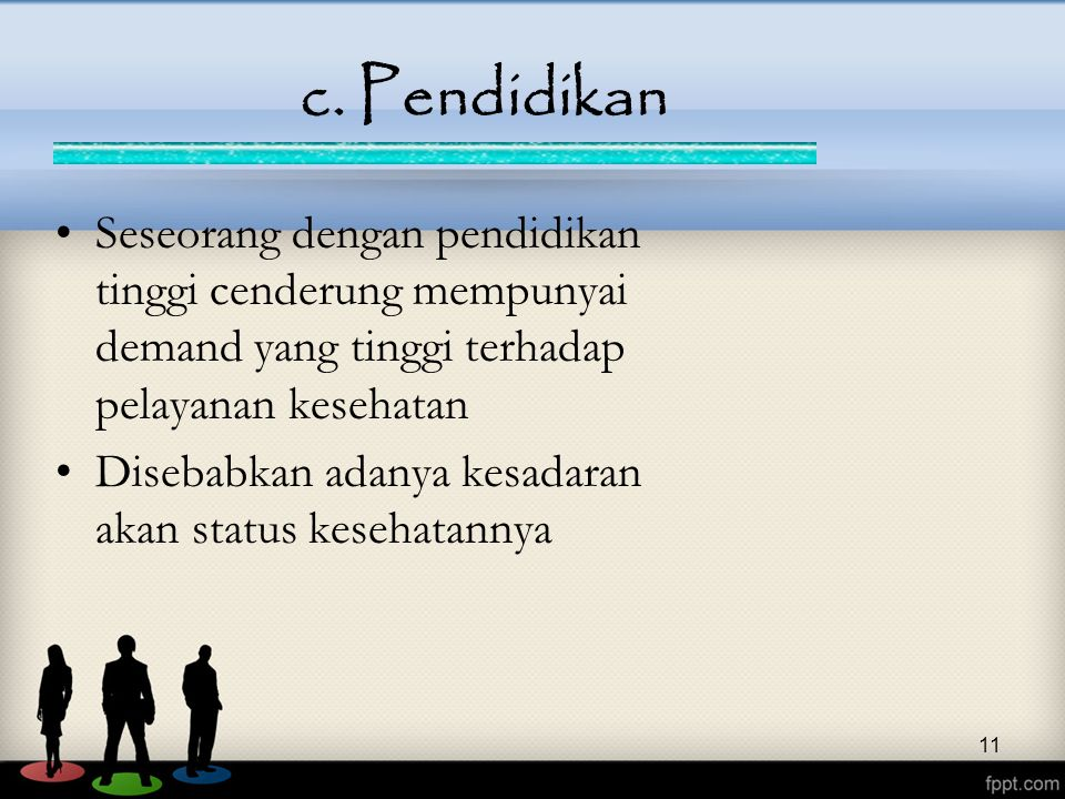 c. Pendidikan