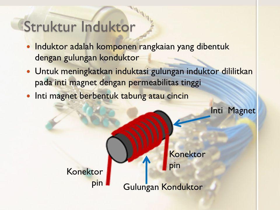 Struktur Induktor Induktor adalah komponen rangkaian yang dibentuk dengan gulungan konduktor.