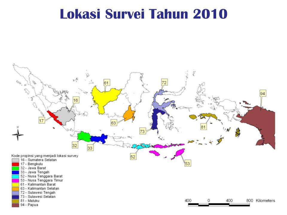 Lokasi Survei Tahun 2010
