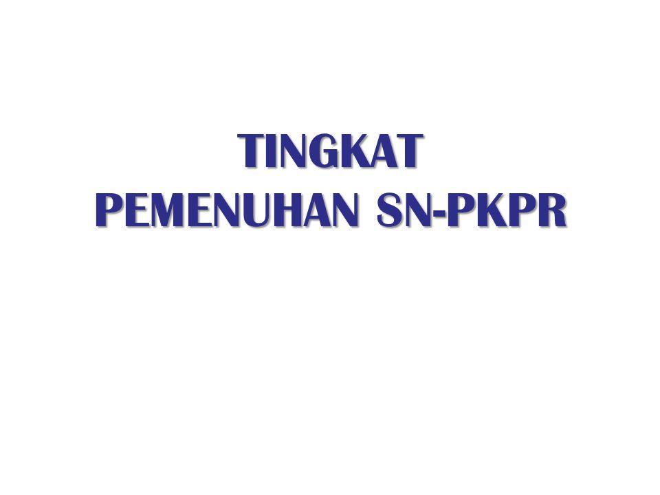 TINGKAT PEMENUHAN SN-PKPR