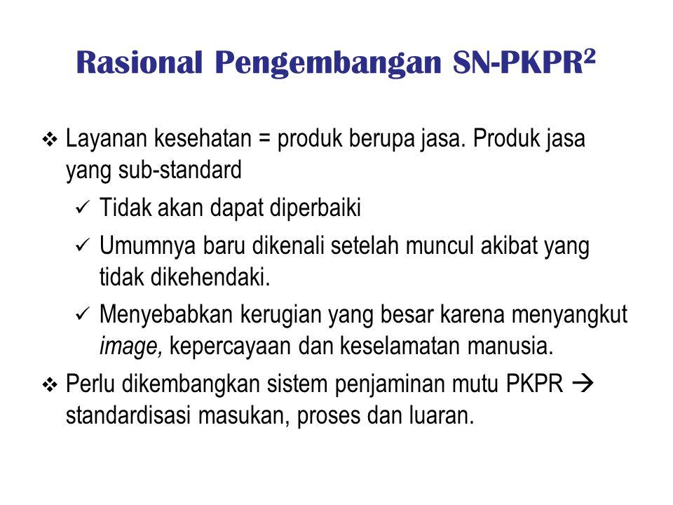 Rasional Pengembangan SN-PKPR2