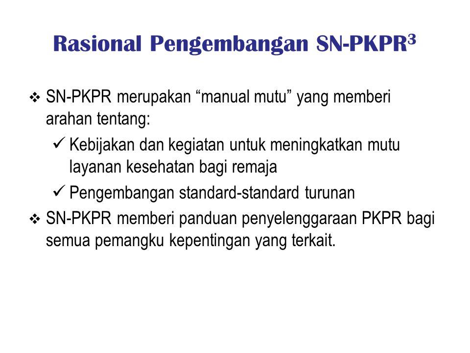 Rasional Pengembangan SN-PKPR3